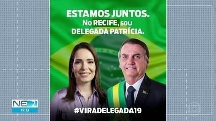Delegada Patrícia recebe apoio de Bolsonaro e ato causa polêmica na chapa