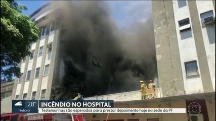Testemunhas do incêndio no Hospital Federal de Bonsucesso são esperadas para depor