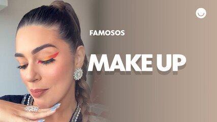 Vivian Amorim mostra maquiagem que vai usar no Premio Multishow