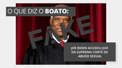 É #FAKE que Joe Biden acusou juiz da Suprema Corte de abuso sexual
