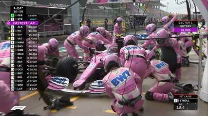 Líder, Stroll resolve parar na volta 10 do GP da Turquia