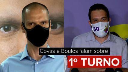 Veja o que disseram Bruno Covas e Guilherme Boulos após 1º turno das eleições em SP