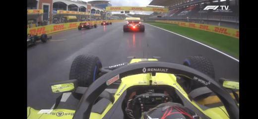 A largada de Esteban Ocon no GP da Turquia