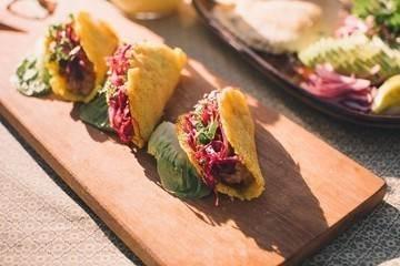 Tacos de caju da Bela Gil