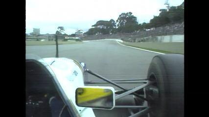 Ayrton Senna conquista a pole position do GP do Brasil de 1994