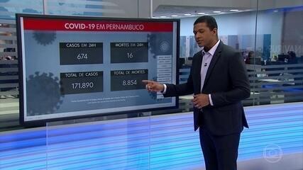 Pernambuco registra mais 674 novos casos e 16 mortes por Covid-19