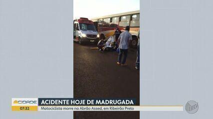 Motociclista morre em acidente na Rodovia Abraão Assed, em Ribeirão Preto