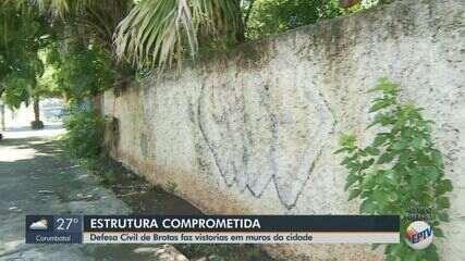 Defesa Civil de Brotas faz vistorias em muros após acidente que matou mãe e filha