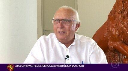 Presidente do Sport se licencia do cargo, e vice assume comando do clube
