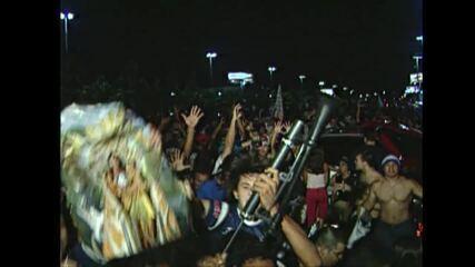 Torcida do Remo comemora título dao Campeonato Brasileiro da Série C de 2005