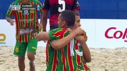 Os gols de Flamengo 2 x 5 Sampaio Corrêa pelo Campeonato Brasileiro de Futebol de Areia