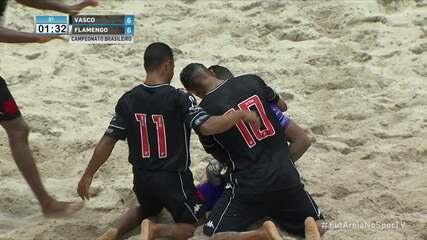 Os gols de Vasco 7 x 6 Flamengo pelo Campeonato Brasileiro de Futebol de Areia