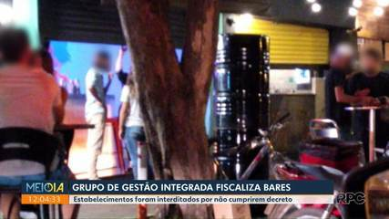 Ações de fiscalização a estabelecimentos foram retomadas na sexta (20) pela Prefeitura de Maringá.