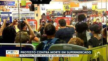Protesto em supermercado de Fortaleza contra a morte de homem negro no RS