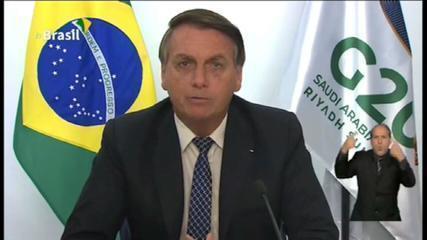 'Ataques injustificados', diz Bolsonaro no G20 sobre política ambiental do governo