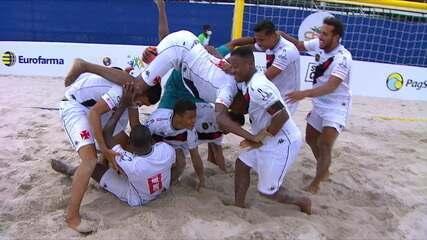 Melhores momentos: Vasco 2 (3) x (2) Sampaio Corrêa pelo Brasileiro de Futebol de Areia