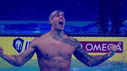 Caeleb Dressel quebra recorde dos 100 metros medley em piscina curta