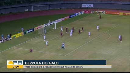 Assista aos gols da derrota do Treze para o Jacuipense, pela Série C do Brasileiro