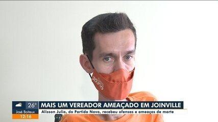 Vereador mais votado de Joinville, Alisson Júlio sofre ameaças