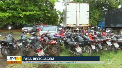 PRF leiloa carros, motos e caminhões apreendidos nas BR's 222 e 316