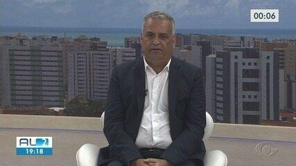 Candidato a prefeito no segundo turno, Alfredo Gaspar é entrevistado no AL2