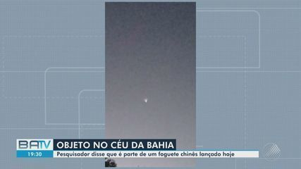 Moradores da Bahia registram objeto desconhecido no céu