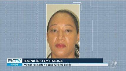 Mulher é morta pelo ex-marido na zona rural de Itabuna, sul da Bahia