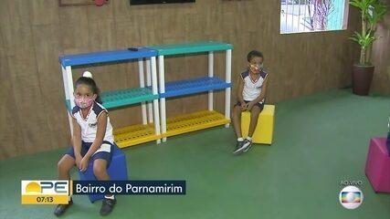 Escolas particulares retomam aulas para crianças menores de 6 anos