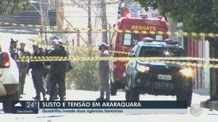 Quadrilha rouba R$ 5 milhões em jóias e dinheiro de agência da Caixa em Araraquara