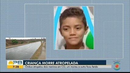Criança de 10 anos morre atropelada por ônibus, em Campina Grande
