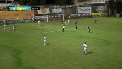 O gol de Estrela do Norte 1 x 0 Vitória-ES, pelo Campeonato Capixaba 2020