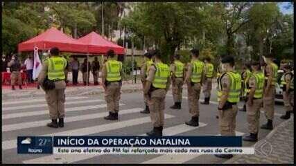 Operação 'Natalina': efetivo da PM é reforçado no Centro de Divinópolis