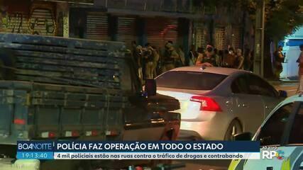 Polícia faz operação em todo o Paraná contra o tráfico de drogas e contrabando