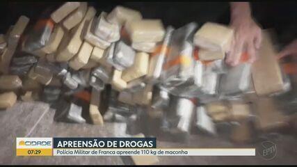 Polícia Militar apreende 110 kg de maconha em Franca, SP