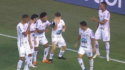 Os gols de Santos 4 x 2 Sport pela 23ª rodada do Campeonato Brasileiro