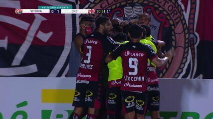 Os gols de Vitória 2 x 1 CRB, pela 24ª rodada do Campeonato Brasileiro da Série B
