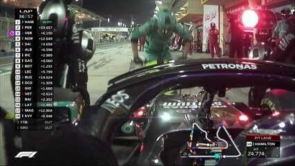 Hamilton faz mais um pit stop sem problemas no GP do Bahrein
