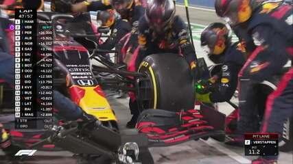 Verstappen faz mais uma parada no GP do Bahrein