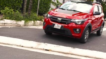 Um Fiat Mobi Trekking nas mãos de Aretha Duarte, guia de alta montanha
