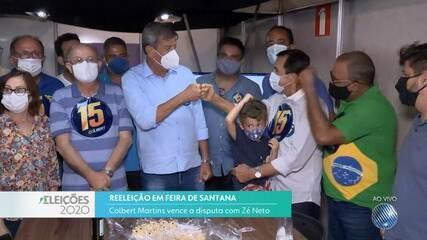 Colbert Martins e Herzém Gusmão se reelegem para as prefeitura de Feira e Conquista