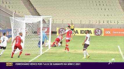 Confira como foi goleada do Ferroviário em cima do Imperatriz, pela Série C do Brasileiro