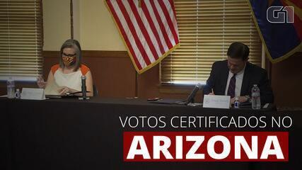 Arizona certifica seus votos e confirma a vitória de Joe Biden no estado