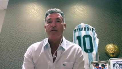 Careca se emociona, ao falar sobre o falecimento de Maradona, ex-colega dele no Napoli