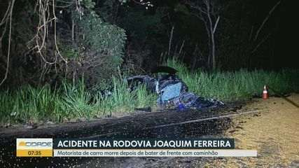 Motorista morre após bater de frente com caminhão em Cajuru