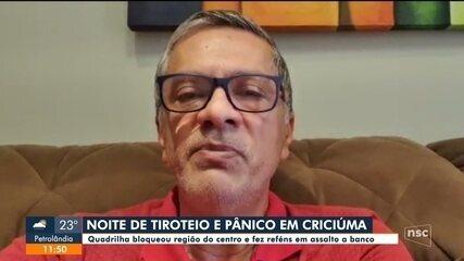 Radialistas que transmitiam live sobre o assalto em Criciúma denunciam ameaças