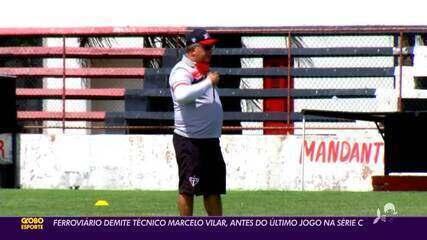 Ferroviário demite técnico Marcelo Vilar a um jogo do fim da primeira fase da Série C