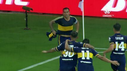 O gol de Internacional 0 x 1 Boca Juniors, pelas oitavas de final da Libertadores
