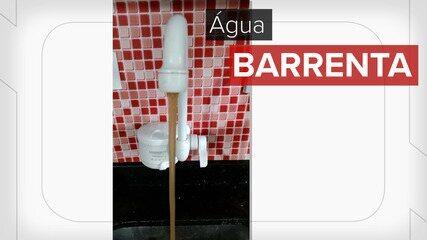 Água barrenta chega em casas de Cidade Tiradentes
