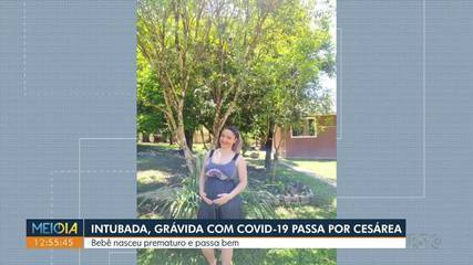 Intubada, grávida com Covid-19 passa por cesárea