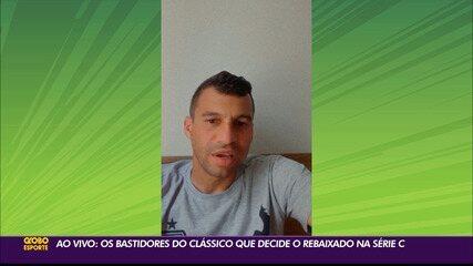 Evaristo Piza e Neto Baiano falam com o Globo Esporte antes do Clássico Tradição